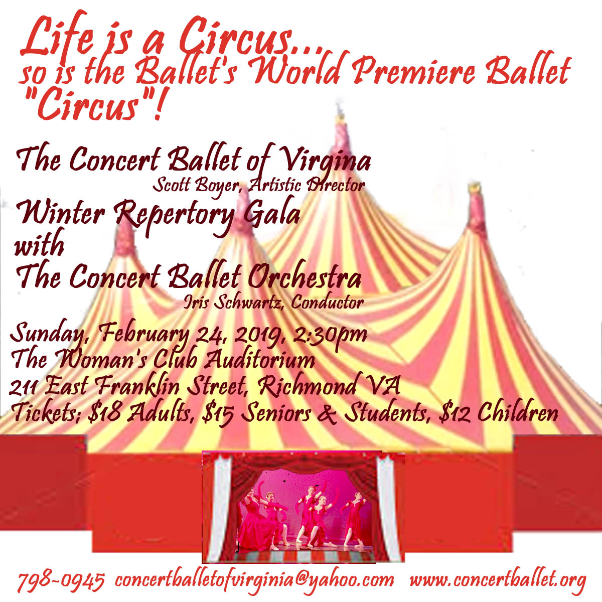 CONCERT BALLET OF VIRGINIA: It's a Circus Out There
