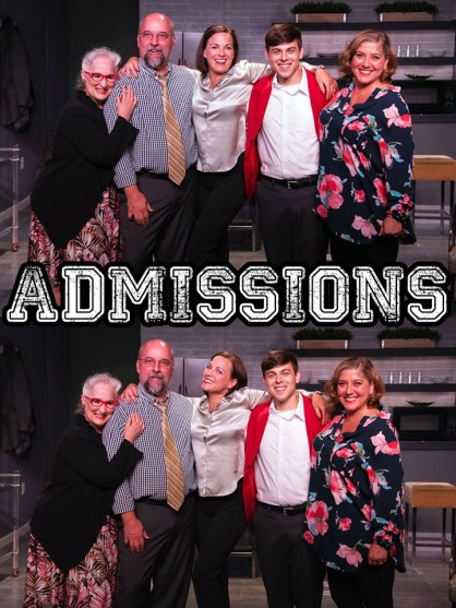 Jacqueline Jones, David Clark, Donna Marie Miller, Tyler Stevens, and Sara Collazo: The Cast of ADMISSIONS.