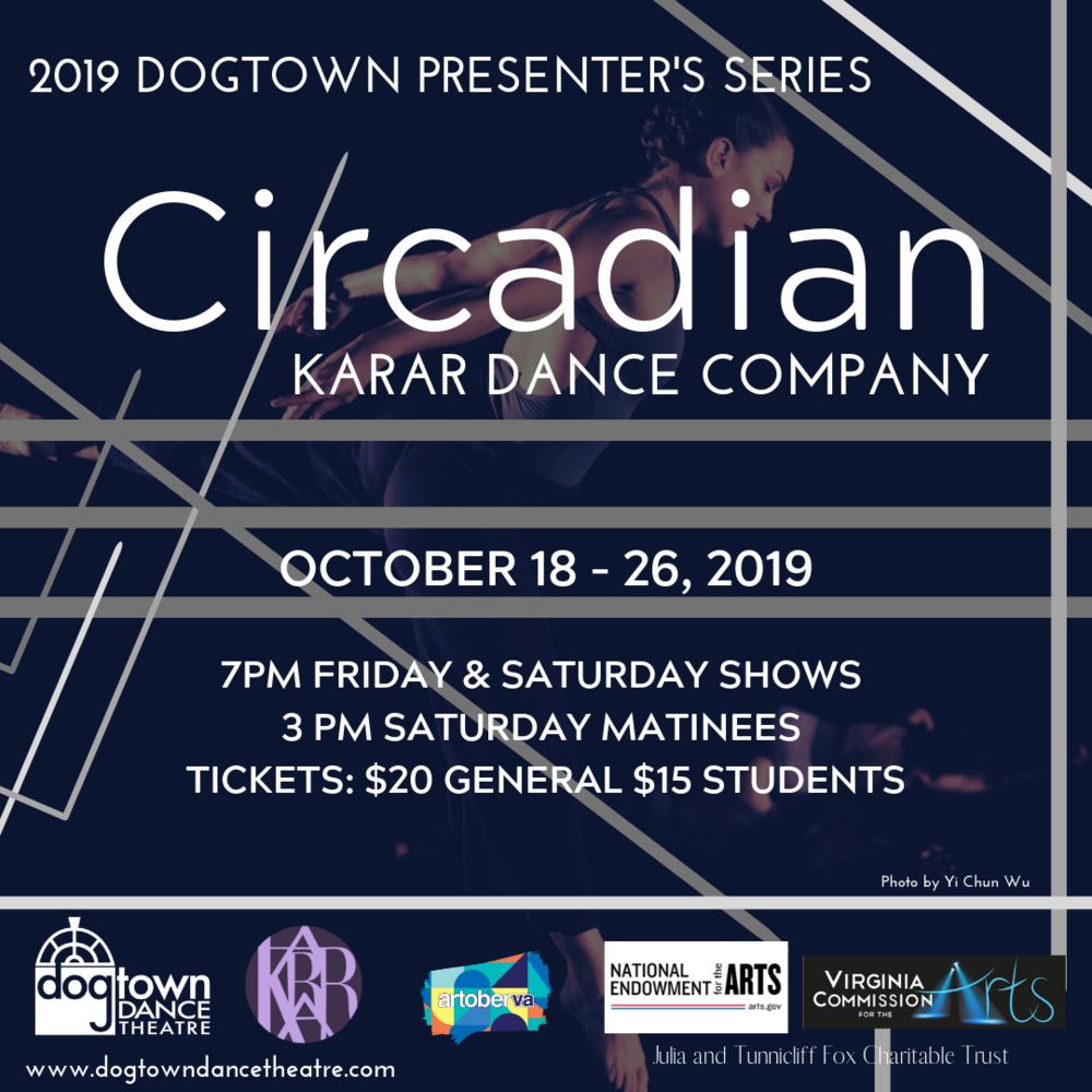 KARAR DANCE COMPANY PRESENTS: CIRCADIAN, an evening-lengthwork